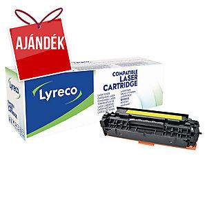 Lyreco kompatibilis HP CC532A/ Canon 718 Y, toner lézernyomtatókhoz,sárga