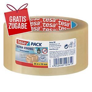Packband Tesa tesapack 57176, 50mm x 66m, transparent