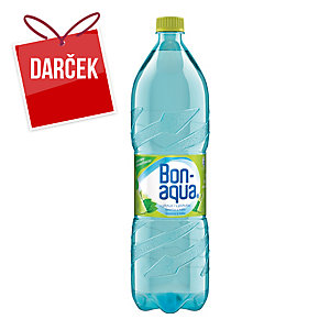 Pramenitá voda Bonaqua limetka-mäta1,5 l, balenie 6 kusov