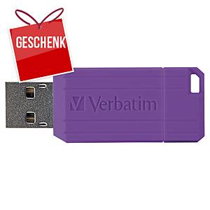 USB-Stick Verbatim 49062 Pinstripe, Speicherkapazität: 8GB, lila