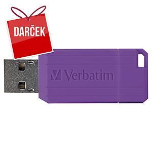 USB kľúč Verbatim Pinstripe 8 GB, fialová
