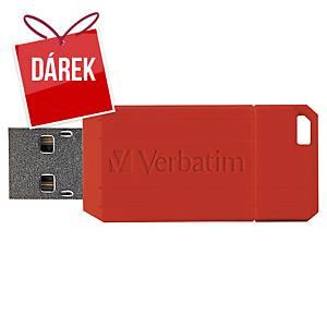 USB klíč Verbatim Pinstripe, červený, 16 GB