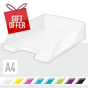 Leitz WOW Letter Tray A4 Pearl White