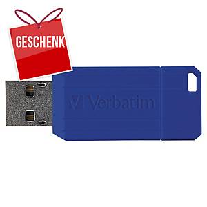 USB-Stick Verbatim 49064 Pinstripe, Speicherkapazität: 32GB, blau