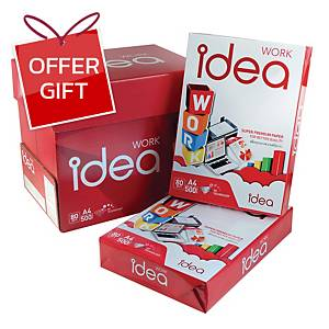 IDEA WORK White A4 Copy Paper 80G  Ream of 500 Sheets