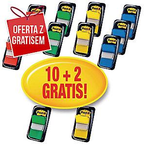 Zakładki indeksujące POST-IT® w opakowaniu promocyjnym 10 + 2 gratis