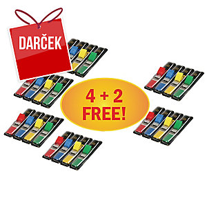 3M Post-it® 683 Záložky 12x44mm, 4 farby, bal. 4+2x140 lístkov