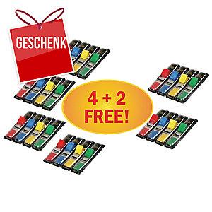 3M Post-it® 683 Page-Marker 12x44mm, 4 Farben, Pack. 4+2x140 Blatt