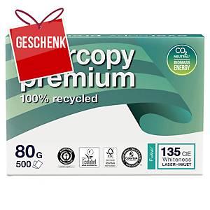 Evercopy Premium Papier, A4, 80 g/m², recycelt, weiß, 500 Blatt