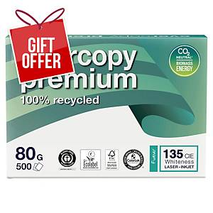Evercopy Premium 1902 Recycled Paper A4 80Gsm - Box Of 5 Reams (5 X 500 Sheets)