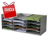 Stohovateľný horizontálny modul Paperflow 15 Comp, 86cm, šedý