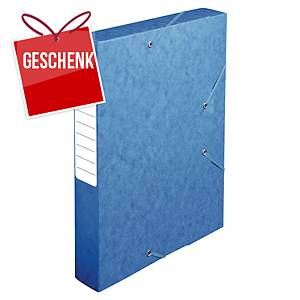 Pendenzenbox Lyreco A4, 60 mm Rücken, Pressspan, blau
