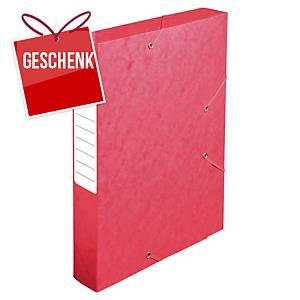 Pendenzenbox Lyreco A4, 60 mm Rücken, Pressspan, rot