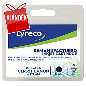 Lyreco kompatibilis Canon CLI-521BK patron tintasugaras nyomtatókhoz, fekete