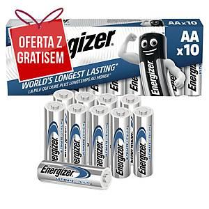 Baterie ENERGIZER® Ultimate Lithium LR6/AA, w opakowaniu 10 sztuk