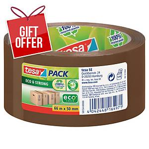 Tesa Eco&Strong Packaging Tape Brown 50mmx66M