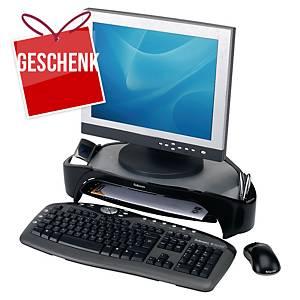 Monitorständer Fellowes 8020801, Tragfähigkeit bis 18kg, schwarz/silber