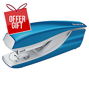 Leitz WOW Metal Stapler Half-Strip Blue