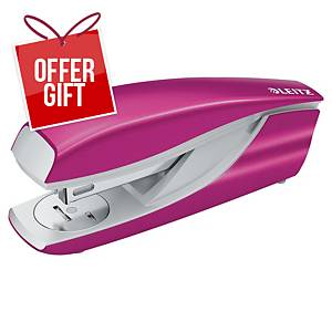 Leitz WOW Metal Stapler Half-Strip Pink