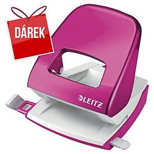 2-děrová děrovačka Leitz® 5008 NeXXt WOW, metalická růžová - 30 listů