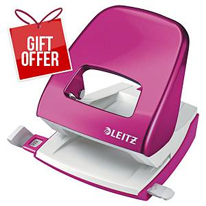 Leitz Wow 2-Hole Punch Pink