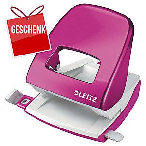 Locher Leitz WOW 5008, Bürolocher, 30 Blatt, pink Metallic