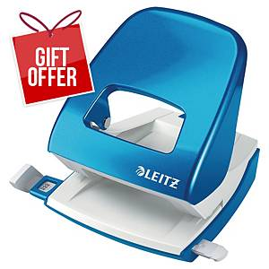 Leitz Wow 2-Hole Punch Blue