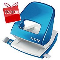 Locher Leitz WOW 5008, Bürolocher, 30 Blatt, blau Metallic