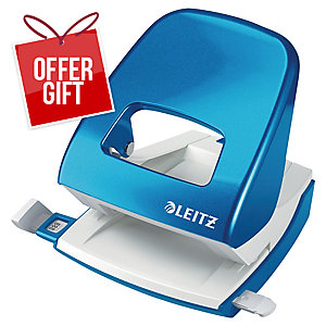 Leitz WOW Hole Punch 2-Hole Blue