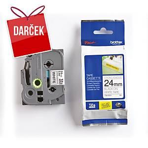 TZe-S pásky Brother, čierna / biela, 24mm x 8m