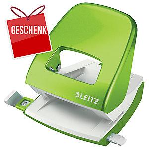 Locher Leitz WOW 5008, Bürolocher, 30 Blatt, grün Metallic