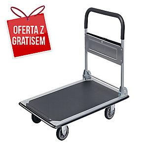 Wózek magazynowy SAFETOOL 3810, składany, 300 kg, biało-niebieski