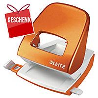 Locher Leitz WOW 5008, Bürolocher, 30 Blatt, orange Metallic