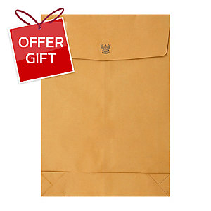 555 GOVERNMENT EXPANDING ENVELOPE KRAFT11  X 17  125G BROWN - PACK OF 50