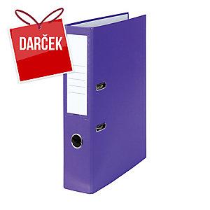 Pákový zakladač poloplastový, šírka chrbta 5 cm, fialový
