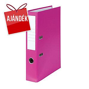 Emelőkaros iratrendező, rózsaszín, gerincszélesség 5 cm