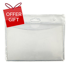 BADGE LANDSCAPE 97MM X 76MM CLEAR - PACK OF 10