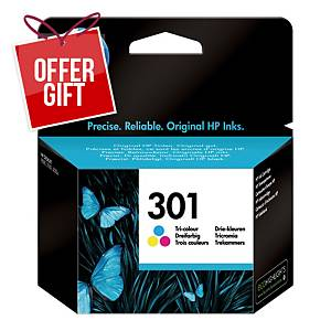 HP 301 Tri-Colour Original Ink Cartridge (CH562EE)
