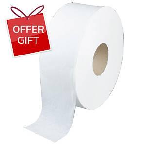 KIMSOFT Jumbo Roll Tissue 1-Ply 620m