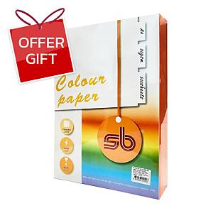 SB coloured A4 Copy Paper 80G Strong Orange Ream of 500 Sheets