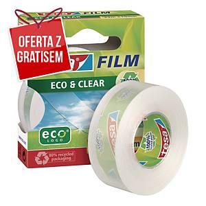 Taśma klejąca TESA Film Eco&Clear, przezroczysta, 19 mm x 33 m