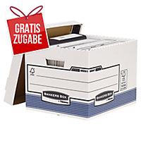 Archivbox Fellowes 0026101 System Standard, Maße: 33,3 x 28,5 x 38 cm, 10 Stück