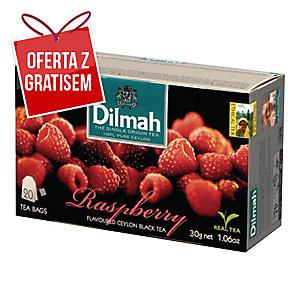 Herbata czarna aromatyzowana DILMAH malinowa, 20 torebek