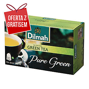 Herbata zielona DILMAH, 20 torebek