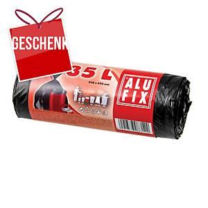 Alufix Müllbeutel HDPE Polyethylen 35 l schwarz