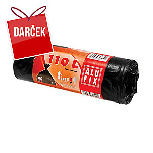 Vrecia na odpadky Alufix 110 l, čierne, nezaťahovacie, 10 kusov