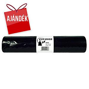Szemeteszsák, zárószalag nélkül, 120l, 25 zsák/tekercs, fekete