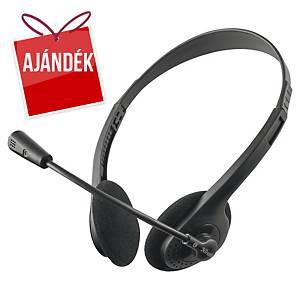 Trust Primo mikrofonos fejhallgató, 3,5 mm jack csatlakozóval