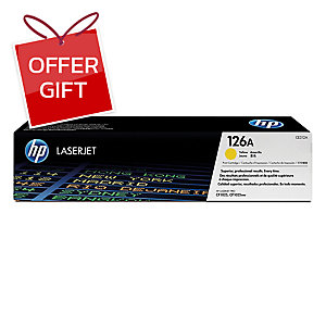 HP CE312A ORIGINAL LASER CARTRIDGE YELLOW