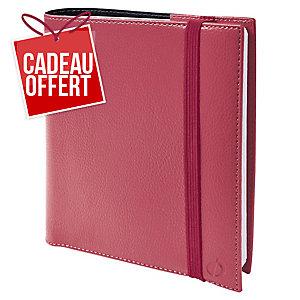 Semainier Quo Vadistime & life medium 16x16 rouge cerise